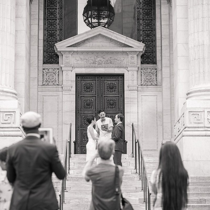 Eloping on the steps of the Public Libary