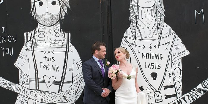 Unique Backdrop for NYC elopement