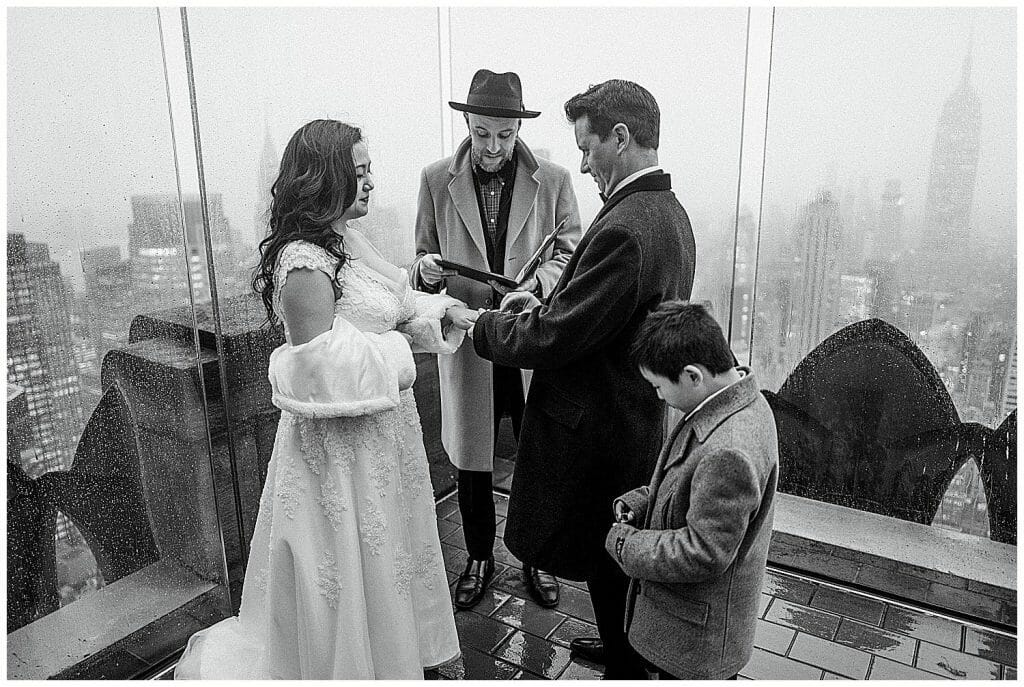 top of the rock elopement
