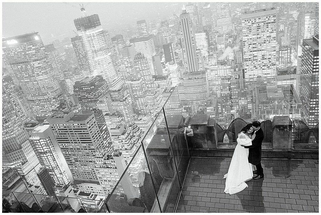 top of the rock elopement